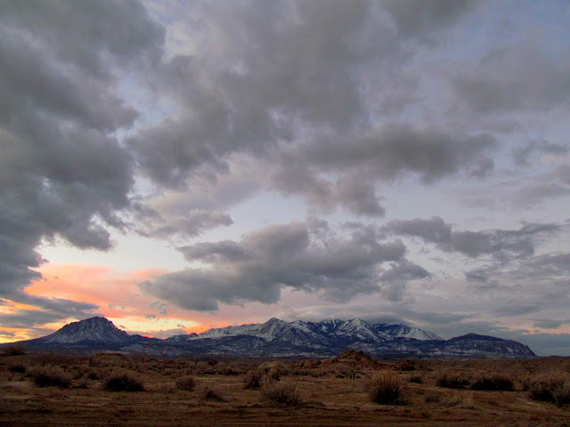 Henry Mountains at sunrise