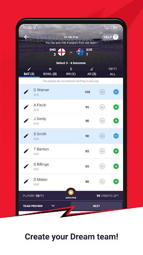 CricPlay - Play Fantasy Cricket & Make Predictions screenshots 2