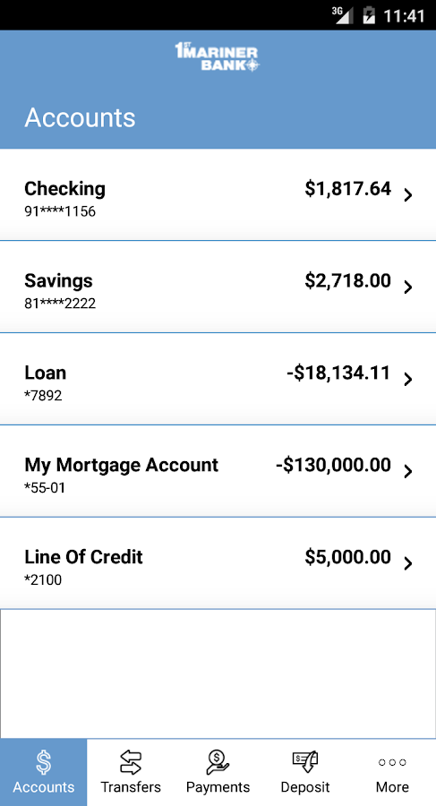 1st Mariner Bank - Mobile Bank- screenshot