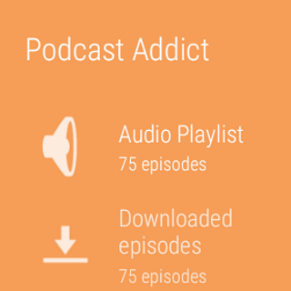 Podcast & Radio Addict: captura de tela