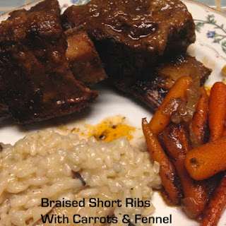 Braised Short Ribs With Carrots And Fennel