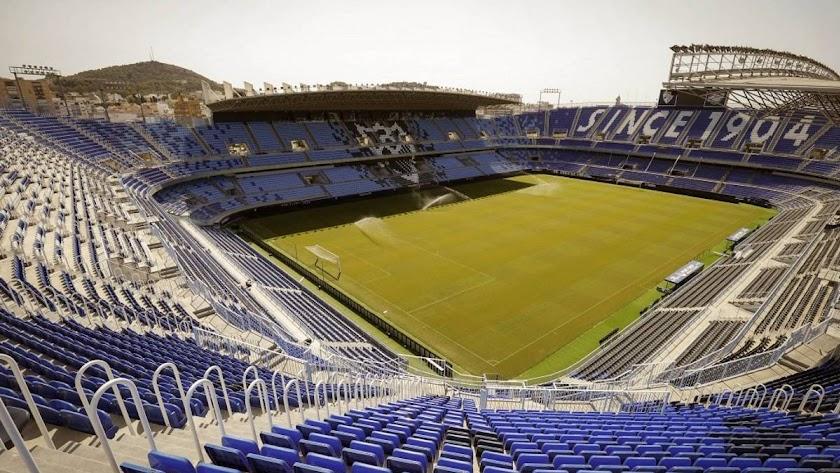 El Estadio de La Rosaleda.