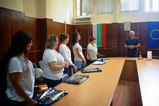 """Photo: Кметът на Симитли Апостол Апостолов посрещна """"Зорница"""" като специални гости на общината, поздрави инициативата и призова за бъдещи съвместни дейности."""
