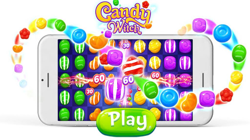Candy Witch - Match 3 Puzzle Free Games apkdebit screenshots 6