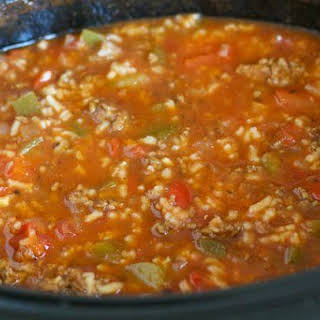 Crock Pot Stuffed Pepper Soup.. food to warm the body...