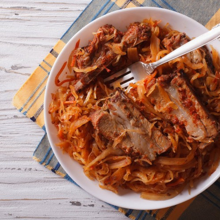 Slow Cooker Country Style Ribs with Sauerkraut
