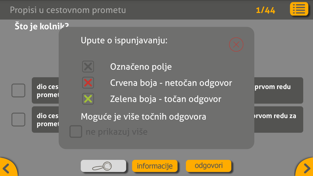Autoškola- screenshot