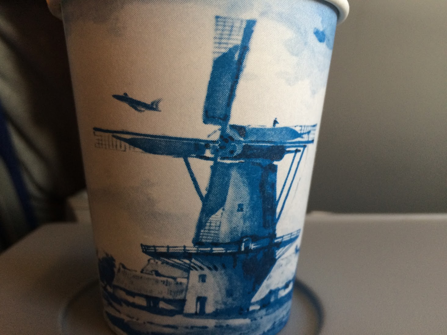 A KLM tea cup