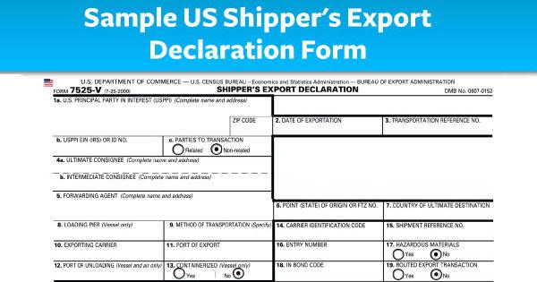 Экспортная декларация в США (SED)