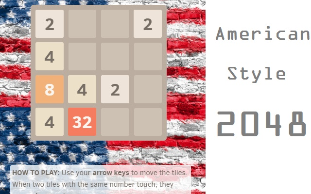 2048 Game Puzzle for Chrome - American Style