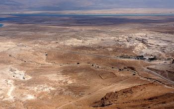 Photo: Dead Sea vista, Roman Seige camp