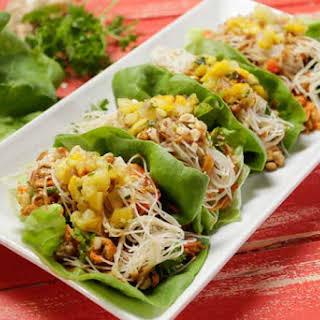 Tempeh Asian Lettuce Wraps.