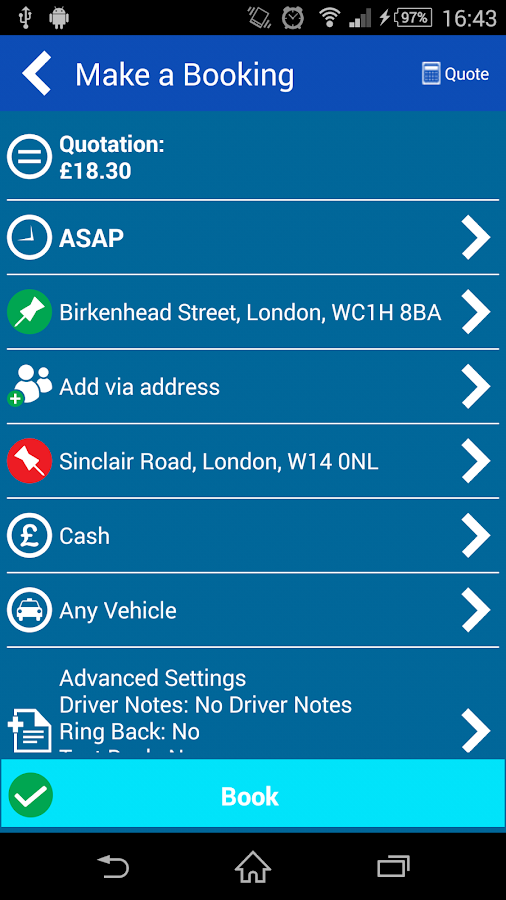 Cascades Minicabs London- screenshot