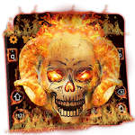 Fire Skull Keyboard Theme Icon