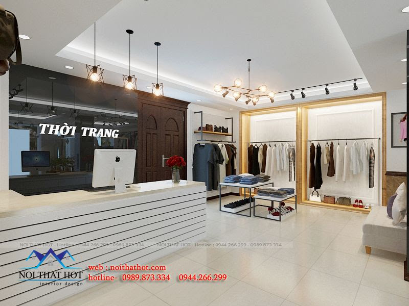 thiết kế shop thời trang lịch sự