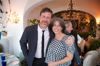 Photo: 2014 Sirenland Fellow Scott Cheshire and Julie Robinson of Literary Affairs