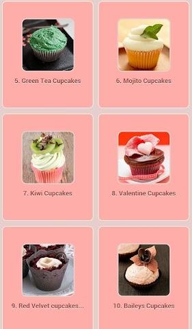 android Cupcakes Recipes Screenshot 1