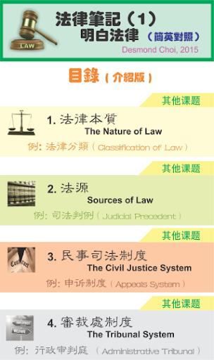 法律筆記-1(law notes-1 繁英 - 介紹版