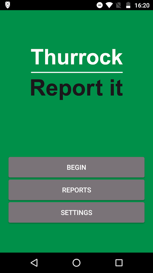 Thurrock Report It- screenshot