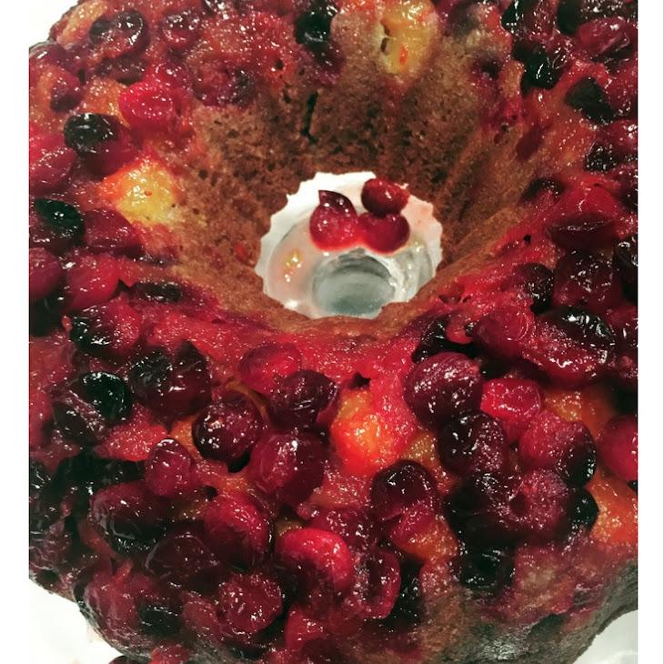 Winter Mandarin Cranberry Upside Down Bundt Cake Recipe