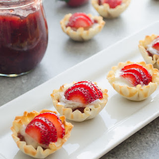 Mini Phyllo Strawberry Brie Bites.