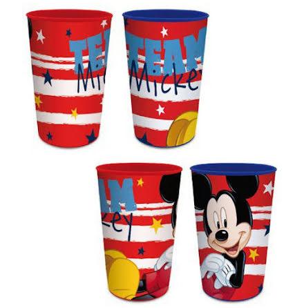 4-Pack plastglas Disney Musse