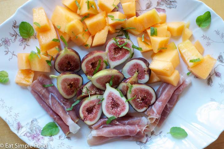 Figs, Prosciutto, Cantaloupe Appetizer Recipe
