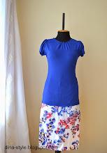 Photo: трикотажная кофточка (вискозный кулир) прямая юбка (атлас-сатин)