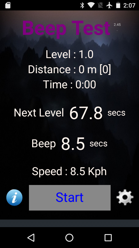 Beep Test- screenshot