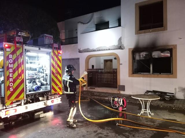 Estado en el que han quedado las viviendas afectadas por las llamas.