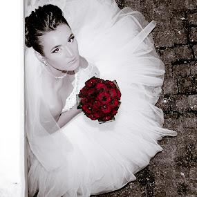 redrose by Iana Udrea - Wedding Bride ( love, wedding, roses, flowers, bride )