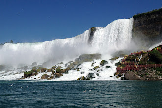 Photo: On the Maid of the Mist steamboat