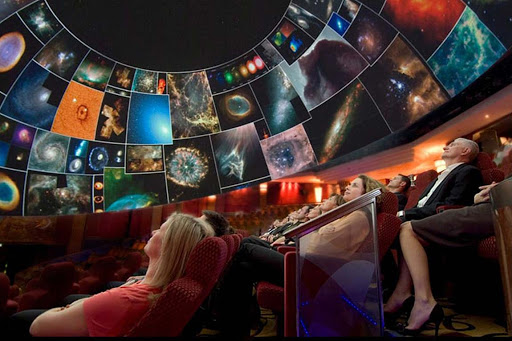 Sit back and gaze at the stars and planets on an exhilarating virtual ride into outer space at Queen Mary 2's planetarium.