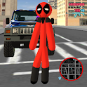 Stickman Dead Rope Hero Pool Gangstar Crime icon
