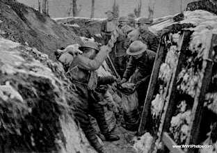 Photo: British Soldiers Making A Dug Out Jan 1918