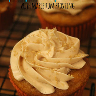 Pumpkin Cupcakes with Maple Rum Frosting