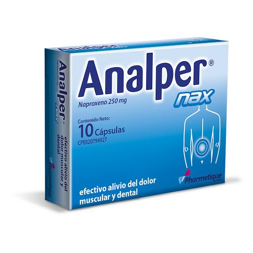 Naxopreno Analper Nax 250 mg x 10 Cápsulas