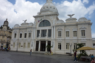Photo: At the top of old Salvador,- old City Hall