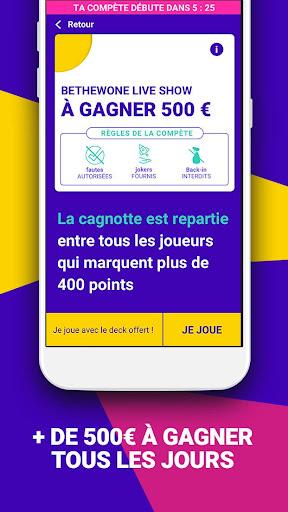 Bethewone u2022 Live Quiz Cash Games  captures d'u00e9cran 1