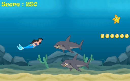 人魚のサメの攻撃