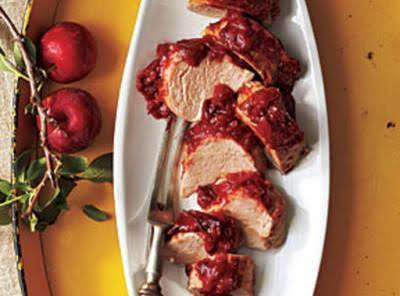 Roast Pork Tenderloin With Plum Barbecue Sauce Recipe