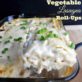 Roasted Vegetable Lasagna Roll-Ups