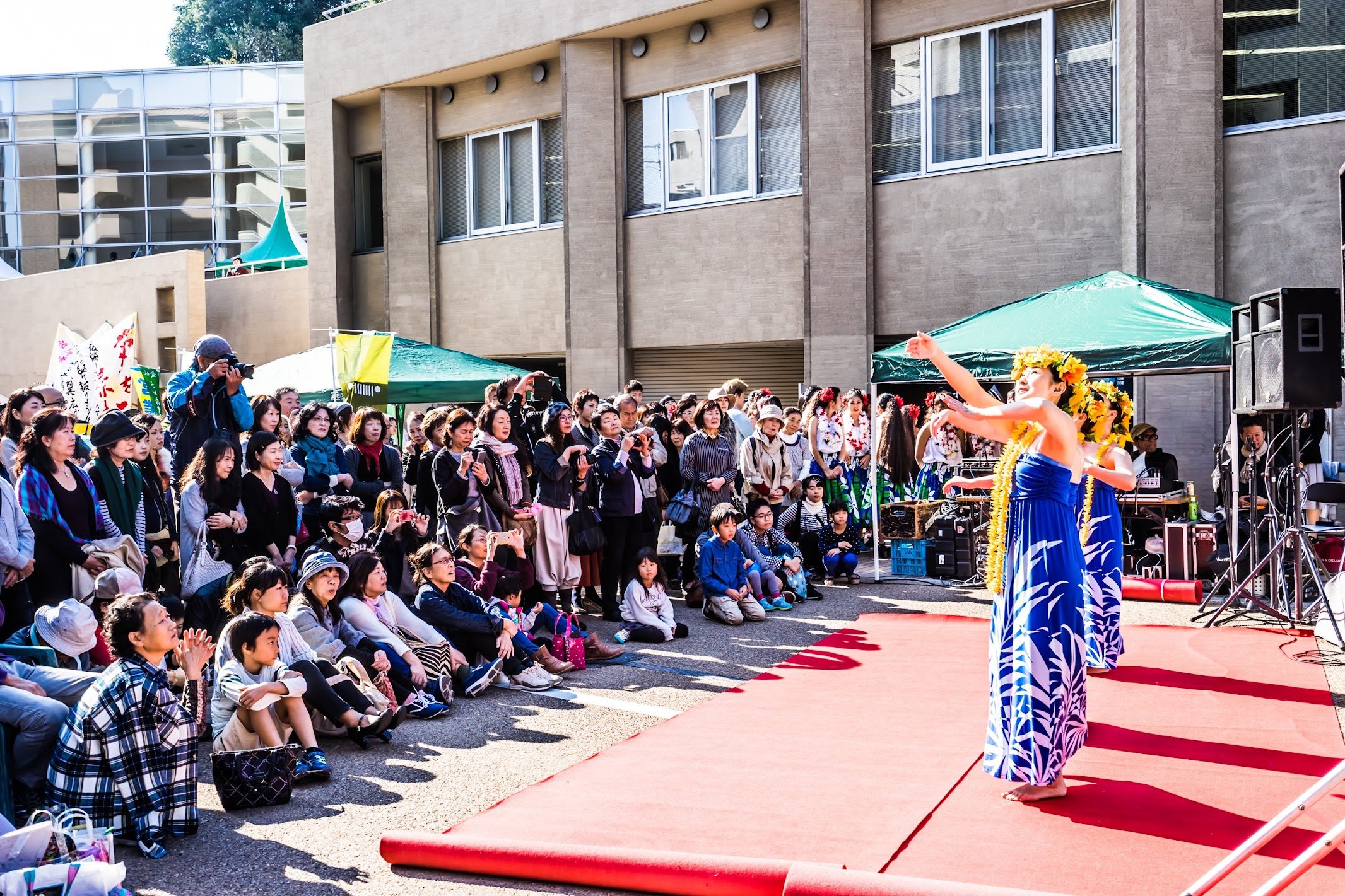 Shiroyama-monzen-matsuri Hula dance
