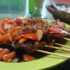 Sate kambing (goat) by Poeji Exsis - Food & Drink Eating