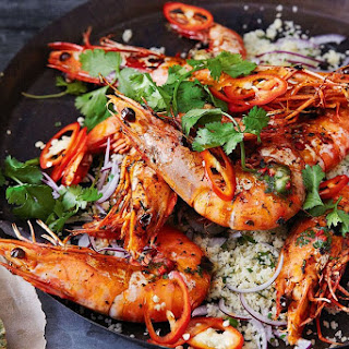 Tiger Prawns With Chermoula Butter