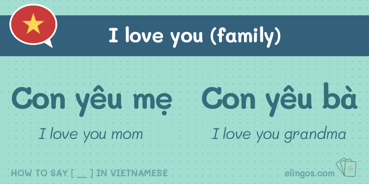 I love you in Vietnamese to mom, grandma