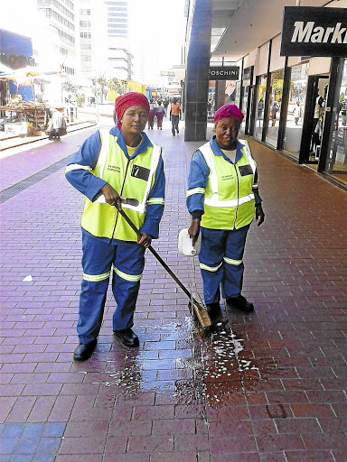 Breathing space: Nomfunelo Mbathane, left, and colleague  Nosipiwo Ntaopane expect the minimum wage will change their lives for the better. Picture: YOLISWA SOBUWA