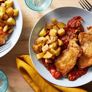 Crispy Chicken & Italian Tomato Sauce.
