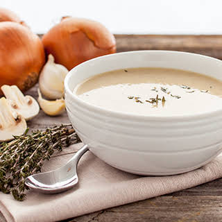 Vegan Cream of Mushroom Soup.