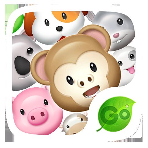 GO Keyboard Sticker 3D animals